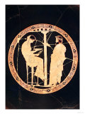 Athenian Red-Figure Kylix Depicting Aegeus, King of Athens, Consulting the Delphic Oracle (Pottery) Giclee Print