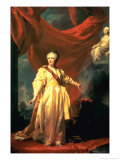 Portrait of Catherine the Great in the Justice Temple, 1780, Giclee Print