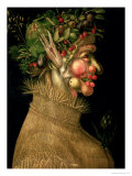 Summer, 1563 Lmina gicle por Giuseppe Arcimboldo