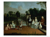 A Family Group on a Terrace in a Garden, 1749 Giclee Print by Arthur Devis