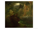 Ossian Conjuring up the Spirits on the Banks of the River Lora with the Sound of His Harp, 1801 Giclee Print by Francois Gerard