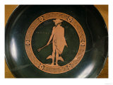 Greek Red-Figure Cup, Depicting the God Hermes (Pottery) Giclee Print