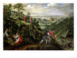 Parable of the Labourers in the Vineyard, circa 1580-90 Giclee Print by Marten van Valckenborch