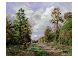 The Road to Louveciennes at the Edge of the Wood, 1871 Giclee Print by Camille Pissarro