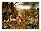 Allegory of Autumn Impression giclée par Pieter Brueghel the Younger