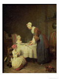 The Grace, 1740 Giclee Print by Jean-Baptiste Simeon Chardin