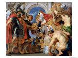 Abraham and Melchizedek, 1615-18 Lámina giclée por Peter Paul Rubens