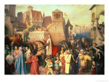 Duke Leopold the Glorious (1176-1230) Enters Vienna on His Return from the Crusades Giclee Print by Josef Mathias Trenkwald