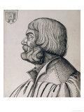 Profile Portrait of Albrecht Durer (1471-1528), 1527 Giclee Print by Albrecht Dürer
