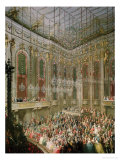 Recital by the Young Wolfgang Amadeus Mozart in the Redoutensaal Giclee Print by Martin van Meytens