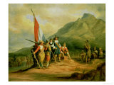 The Landing of Jan Van Riebeeck (1619-77) 6th April 1652, 1850 Giclee Print by Charles Bell II