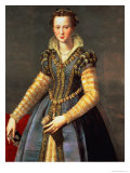 Marie De Medici (1573-1642), Wife of Henri IV of France (1553-1610) Reproduction procédé giclée par Alessandro Allori