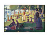 Tarde de domingo en la isla de la Grande Jatte, ca. 1886 Lámina giclée por Georges Seurat