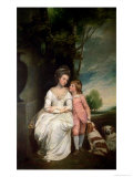 The Countess of Albemarle and Her Son Giclee Print by George Romney