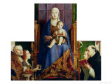 Madonna with Saint Nicholas of Bari Reproduction procédé giclée par Antonello da Messina