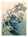 Waves and Birds, circa 1825 Premium Giclee Print by Katsushika Hokusai