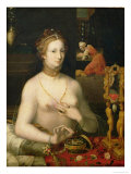 Woman at Her Toilette, 1585-95 Giclee Print by Francois Bunel