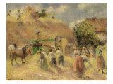 The Harvest, 1883 Giclee Print by Camille Pissarro