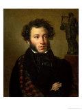 Portrait of Alexander Pushkin, 1827 Giclee Print by Orest Adamovich Kiprensky