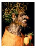 Invierno Lmina gicle por Giuseppe Arcimboldo