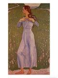 Emotion (Ergriffenheit), 1900 Gicleetryck av Ferdinand Hodler