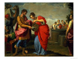 Rebecca and Eliezer at the Well, circa 1626-27 Giclee Print by Ottavio Vannini
