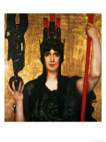 Pallas Athena, 1898 Gicleetryck av Franz von Stuck
