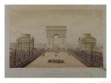 Entry of Napoleon III into Paris, Through the Arc De Triomphe, on 2nd December 1852 Reproduction procédé giclée par Theodore Jung