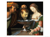 Salome with the Head of John the Baptist, 1520/24 Giclee Print by Andrea Solario