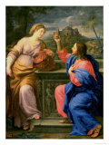 Christ and the Woman from Samaria Giclée-tryk af Carlo Maratti