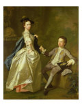 The Hon. Rachel Hamilton and Her Brother, the Hon. Charles Hamilton, 1740 Giclee Print by Allan Ramsay