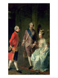 Archduke Maximilian Franz Visiting Marie Antoinette (1755-93) and Louis XVI (1754-93) Giclee Print by Josef Hauzinger