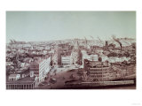 View of Utica City, New York State, Which Built up Around the Traffic on the Erie Canal Giclee Print