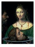 Salome with the Head of John the Baptist, circa 1525-30 Premium Giclee Print by Bernardino Luini