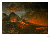 Vesuvius Erupting Giclee Print