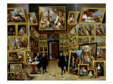 Archduke Leopold Wilhelm (1614-61) in His Picture Gallery, circa 1647 Gicl&#233;e-Druck von David Teniers the Younger