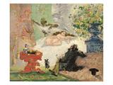 A Modern Olympia, 1873-74 Giclee Print by Paul Cézanne