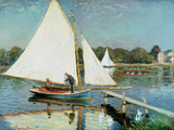 Sailing at Argenteuil, c.1874 Giclee Print by Claude Monet