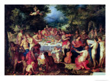 The Banquet of the Gods Reproduction procédé giclée par Hendrik van Balen the Elder