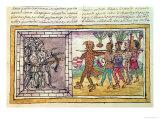 Codex Duran: Pedro de Alvarado, Companion-At-Arms of Hernando Cortes (1485-1547), Giclee Print