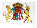 Coat of Arms of Jane Seymour (circa 1509-37), Third Wife of King Henry Viii of England (1491-1547) Giclee Print