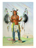 "Mandan Medicine Man Mah-To-Hah ""Old Bear"" Giclee Print by George Catlin"