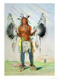 "Mandan Medicine Man Mah-To-Hah ""Old Bear"" Premium Giclee Print by George Catlin"