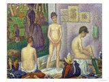 The Models, 1888 Premium Giclee Print by Georges Seurat