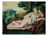 Diane De Poitiers (1499-1566) as Diana the Huntress Giclee Print