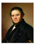 Portrait of Marie Henri Beyle, Known as Stendhal (1783-1842) 1840 Giclee Print by Johan Olaf Sodermark