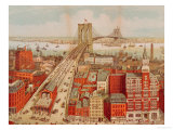 Brooklyn Bridge, circa 1883 Giclee Print by R. Schwarz