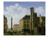La Place Vendome, 1808 Giclee Print by Etienne Bouhot