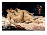 Le Sommeil, 1866 Giclee Print by Gustave Courbet