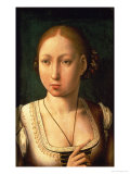 """Juana or Joanna of Castile, Called """"The Mad"""" (1479-1555) Daughter of Ferdinand II of Aragon Premium Giclee Print by Juan de Flandes"""
